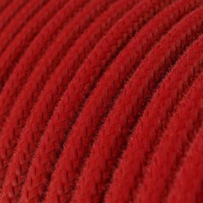 Textilkabel rund, feuerrot Baumwolle, RC35