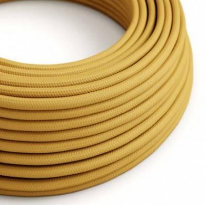 Textilkabel rund, senf mit Seideneffekt, RM25