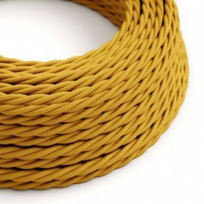 Textilkabel geflochten, senf mit Seideneffekt, TM25