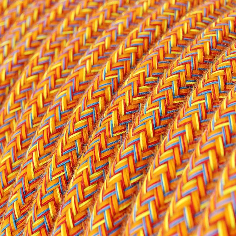 Textilkabel rund, Indian Summer mit Seideneffekt, RX07
