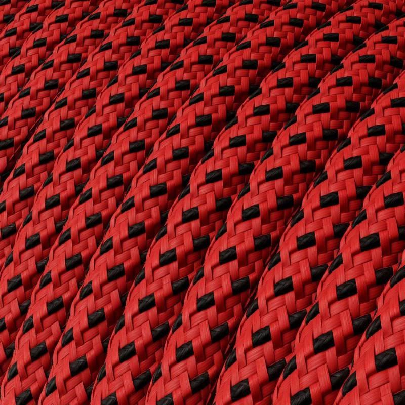 Textilkabel rund, Red Devil 3D mit Seideneffekt, RT94