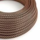 Textilkabel rund, überzogen mit Kupfer
