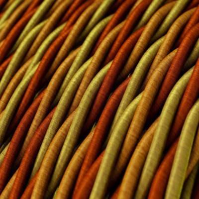 Textilkabel geflochten, orange mit Seideneffekt, TG04