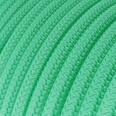 Textilkabel rund, opalgrün mit Seideneffekt, RH69