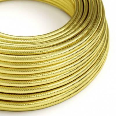 Textilkabel rund, Kupfer/Goldfarben