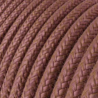 Textilkabe rund, Marsala blau Baumwolle, RX11