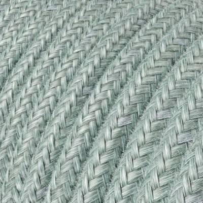 Textilkabe rund, dunstblau Baumwolle, RX12