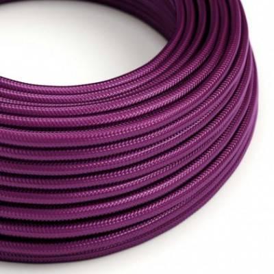 Textilkabel rund, farbe Violet mit Seideneffekt, RM35