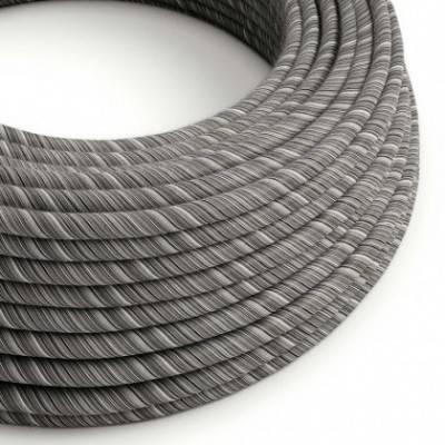 Rundes, Vertigo-Textilkabel in Schwarz-Mélange aus Baumwolle ERC37