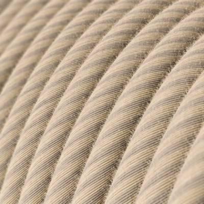 Rundes, Vertigo-Textilkabel aus Stroh-Baumwolle und Leinen ERD20