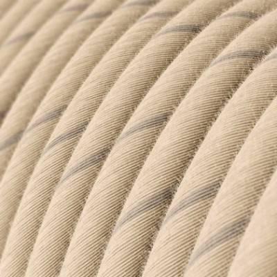 Rundes, Vertigo-Textilkabel aus Hafer-Garn und Leinen ERD23