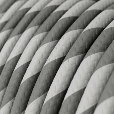 Rundes Vertigo-HD-Textilkabel in Silber mit grauem Stoff ERM55