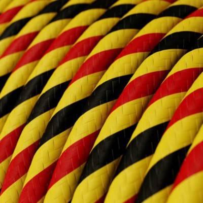 Rundes, Vertigo-Textilkabel mit HD Effekt in Brüssel-Optik ERM59