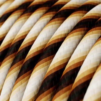 Rundes, Vertigo-Textilkabel mit HD Effekt in Mr Brown-Optik ERM61