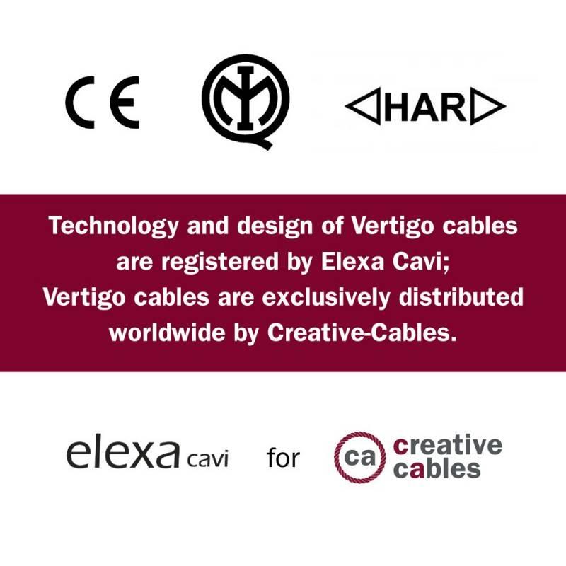 Rundes, Vertigo-Textilkabel aus Baumwolle und Leinen mit Kupferfaden ERR05