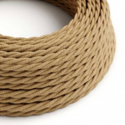 Textilkabel geflochten, überzogen mit Jutefaser, TN06
