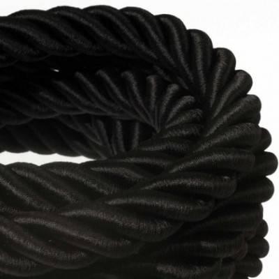 Elektrisches Tauseil 3XL 3x0,75 schwarz Glanz. Durchmesser 30 mm