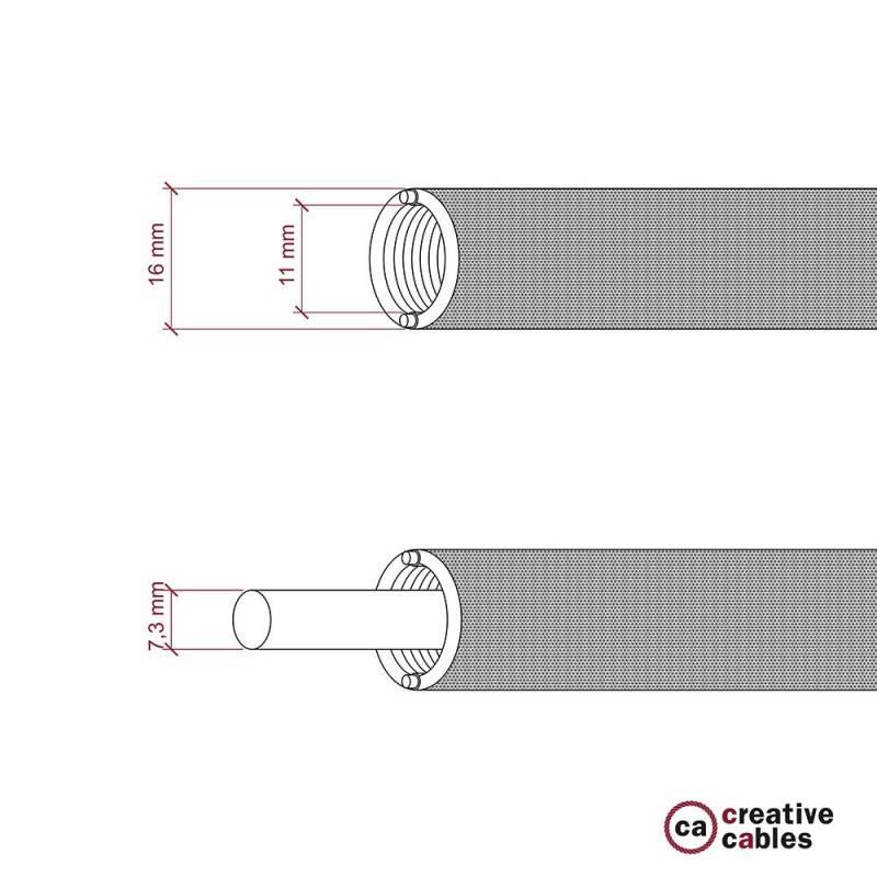 Creative-Tube, Durchmesser 16 mm, in Seideneffekt RM04 schwarz, mit modularer Kabelkanal