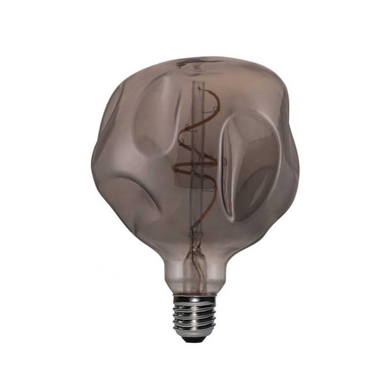 LED-Glühbirne Globo G125 Bumped Smoky Spiralfaden 5W E27 Dimmbar 2000K