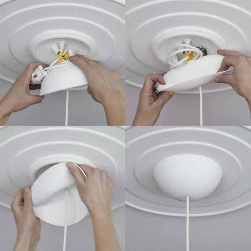 Lampenbalachin Kit aus Silikon Cable Cup®