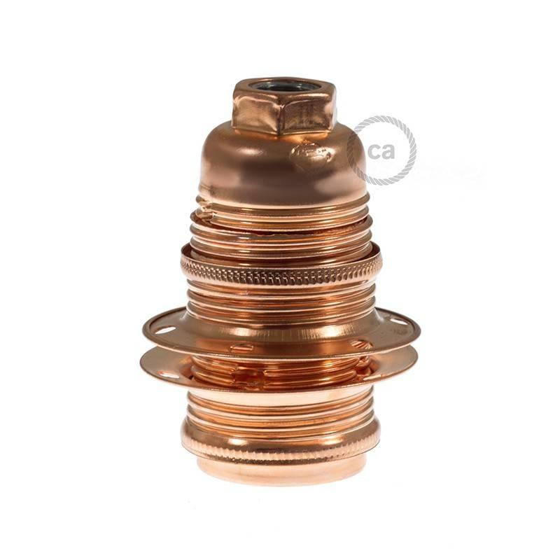 E14-Lampenfassungs-Kit aus Metall mit Doppelklemmring für Lampenschirme