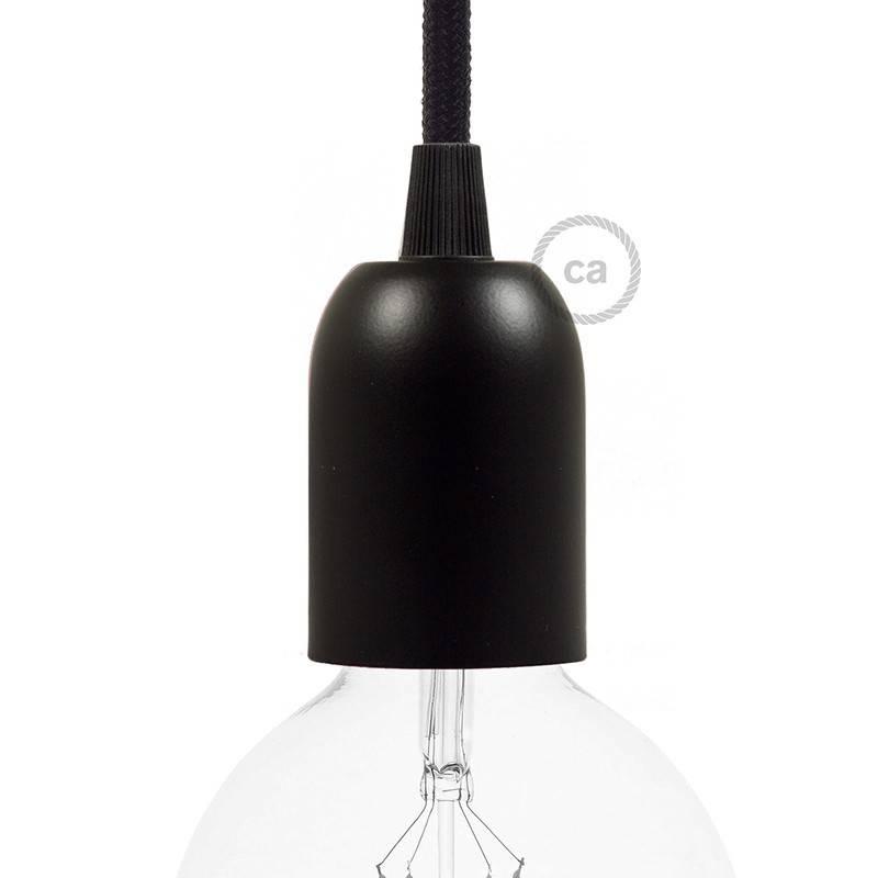 Halbkugelförmiges E27-Lampenfassungs-Kit aus lackiertem Metall