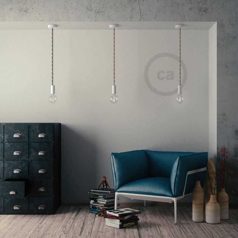 E27-Lampenfassungs-Kit aus Holz für XL-Seilkabel