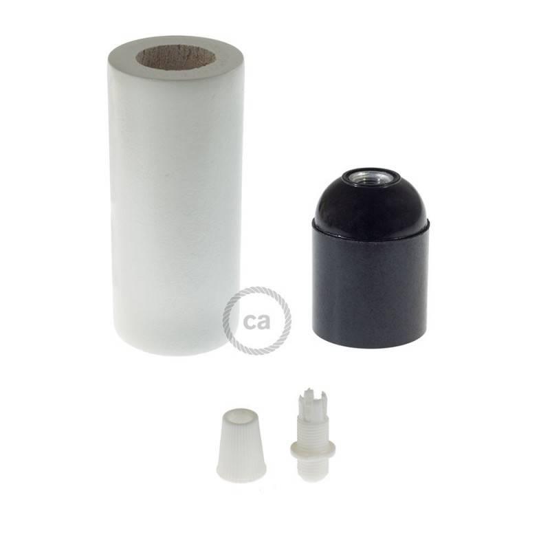 E27-Lampenfassungs-Kit aus Holz für 3XL-Seilkabel