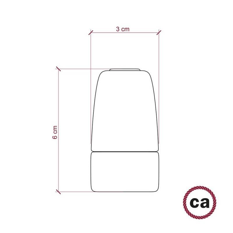 E14-Lampenfassungs-Kit aus Porzellan