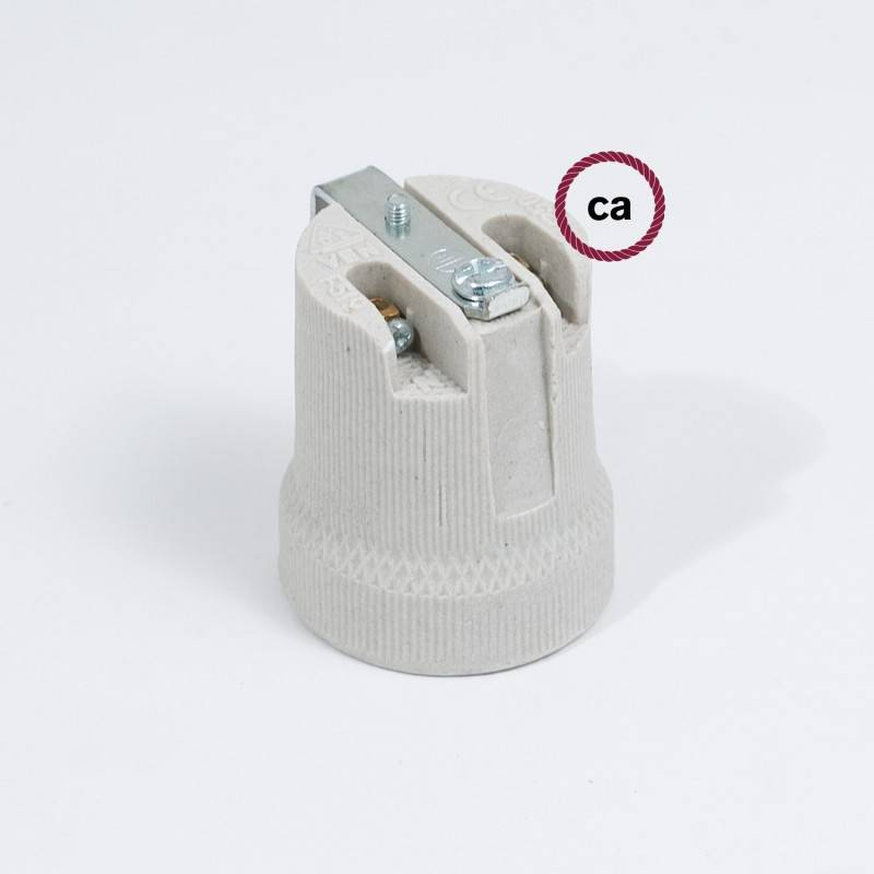 Innenliegendes E27-Lampenfassungs-Kit aus Porzellan