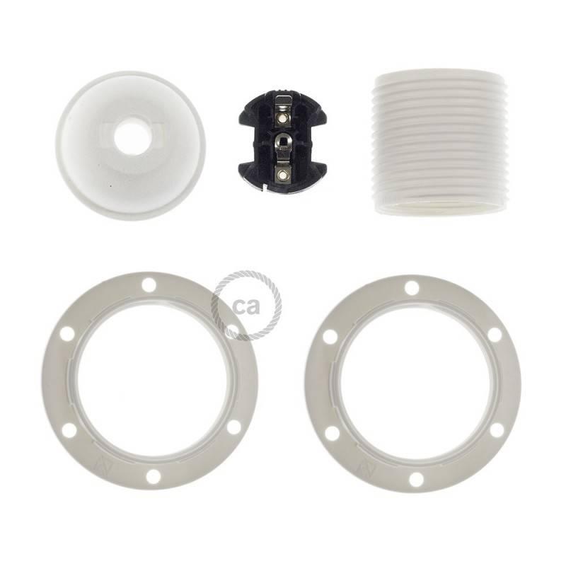 Thermoplastisches E27-Lampenfassungs-Kit mit Doppelklemmring für Lampenschirme