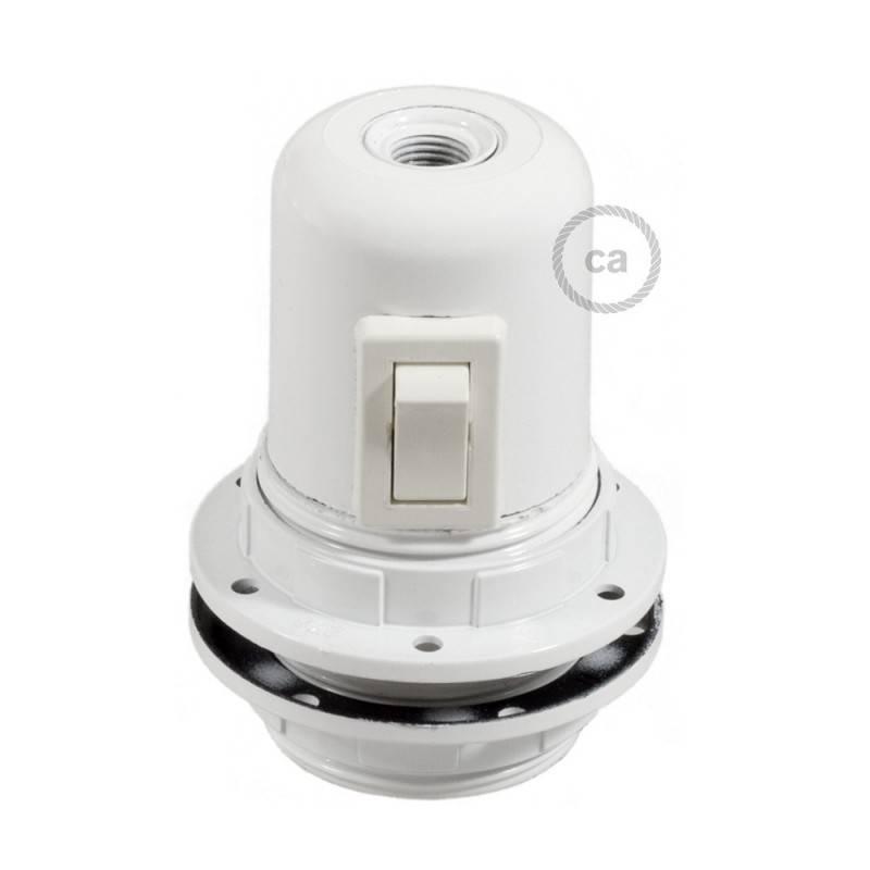 E27-Lampenfassungs-Kit aus Bakelit mit Doppelklemmring und Kippschalter für Lampenschirme