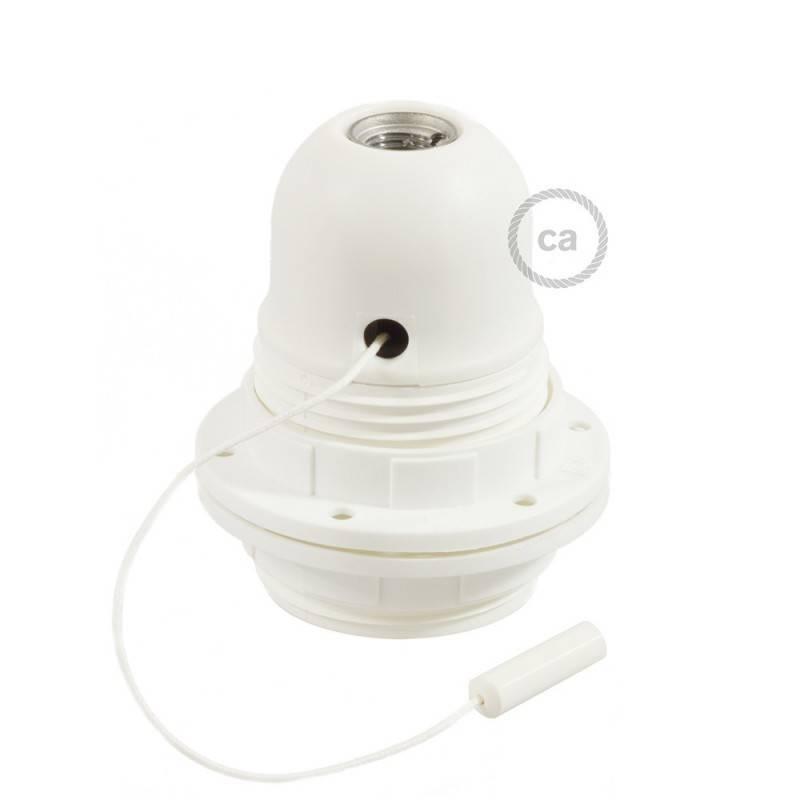 E27-Lampenfassungs-Kit aus Bakelit mit Doppelklemmring und Zugschalter für Lampenschirme