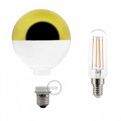 Modulare dekorative Glühbirne LED G125 aus Glas Halbkugel gold 4,5W E27 dimmbar 2700K