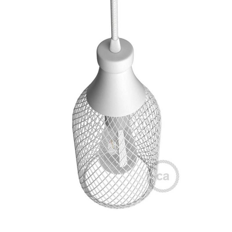 Flaschenförmiger Lampenschirmkäfig Jéroboam aus Metall