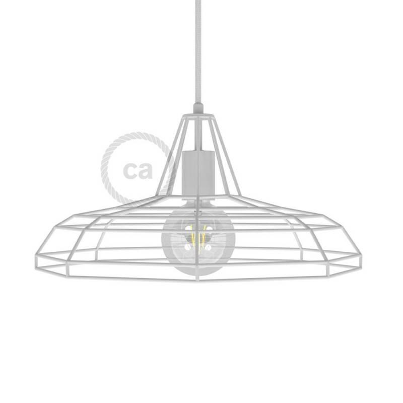 Lampenschirmkäfig Sonar XL aus Metall mit E27-Fassung