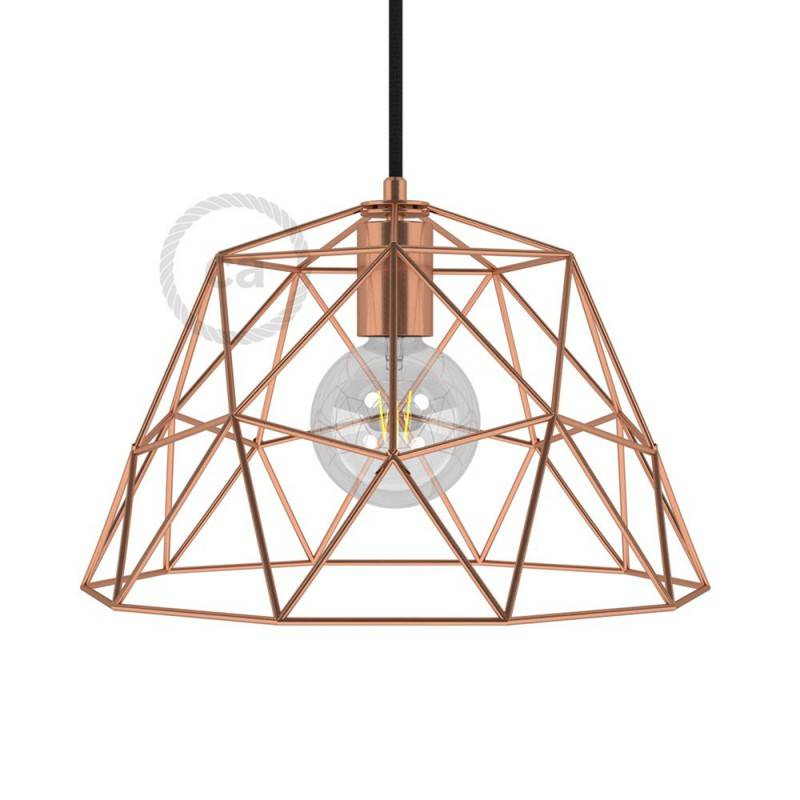Lampenschirmkäfig Dome XL aus Metall mit E27-Fassung