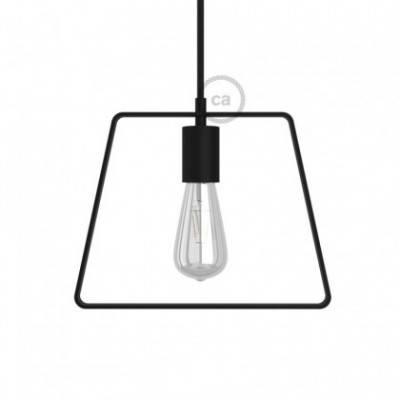 Trapezförmiger Lampenschirm Duedi Base aus Metall mit E27-Fassung inkl. Zubehör