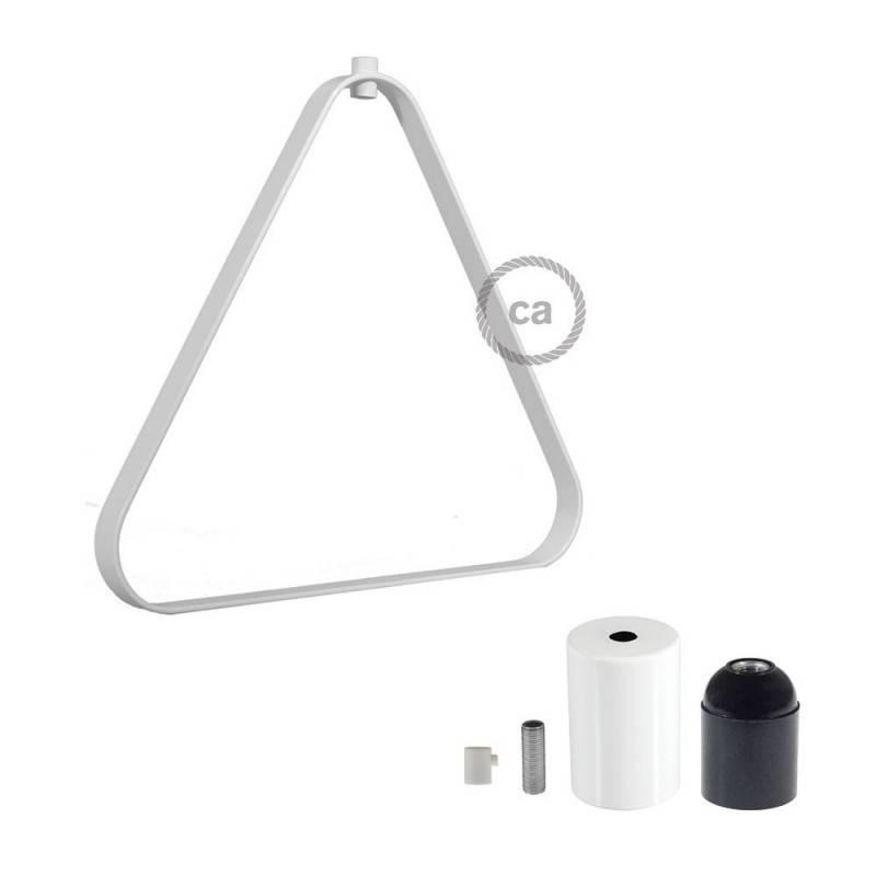Triangelförmiger Lampenschirm Duedi Apex aus Metall mit E27-Fassung inkl. Zubehör