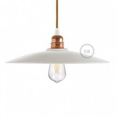 Tellerförmiger Lampenschirm aus Keramik zum Aufhängen - Made in Italy