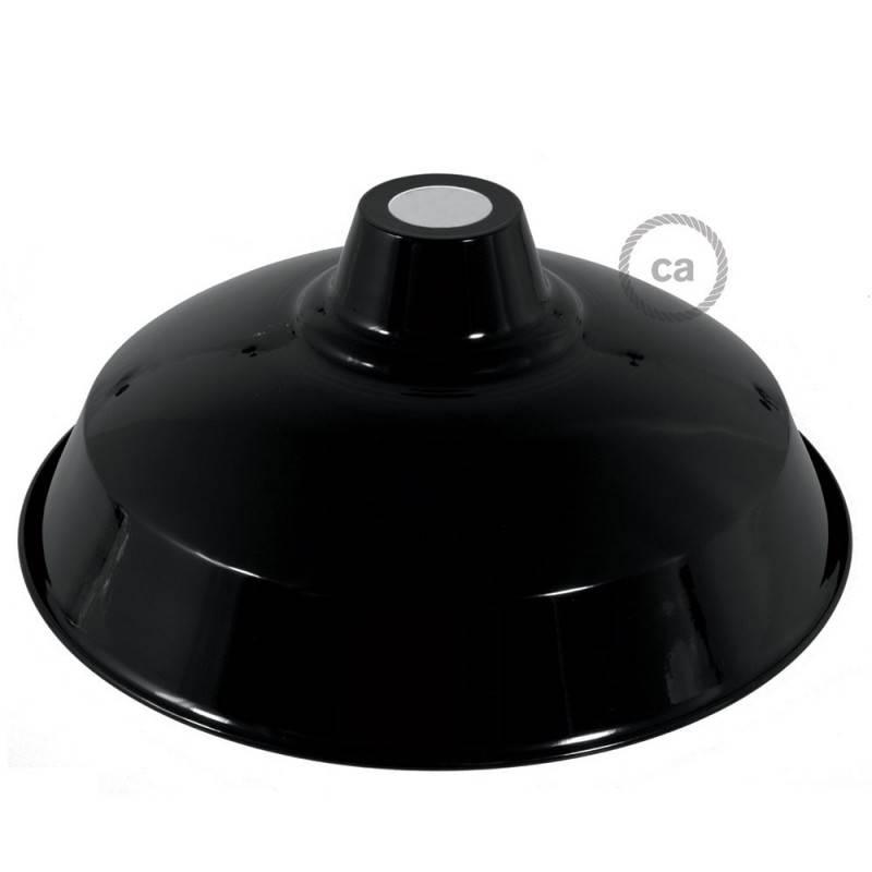 Lampenschirm Bistrot aus lackiertem Metall mit E27-Anschluss, 38 cm Durchmesser