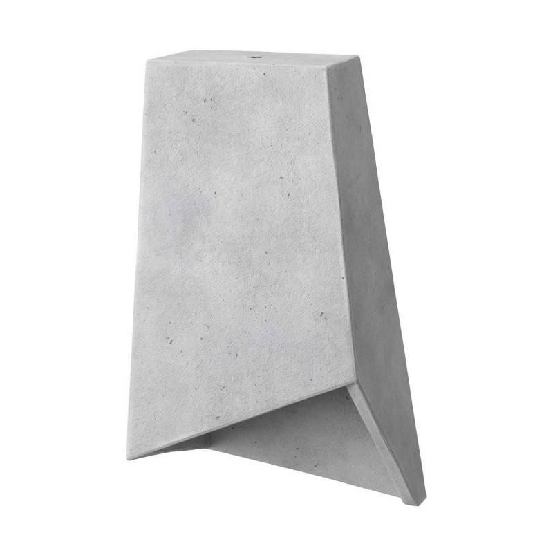 Lampenschirm Prisma aus Zement mit Kabelklemme und E27 Fassung zum Aufhängen