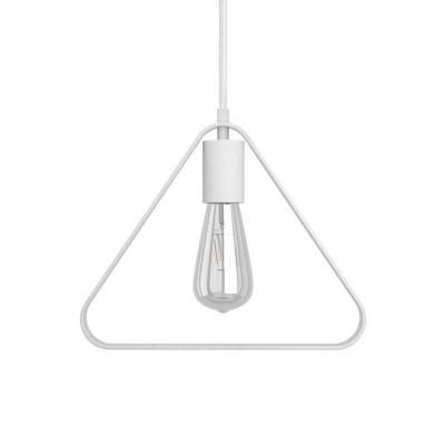 Pendelleuchte inklusive Textilkabel, Duedì Apex Lampenschirm und Metall-Zubehör - Made in Italy