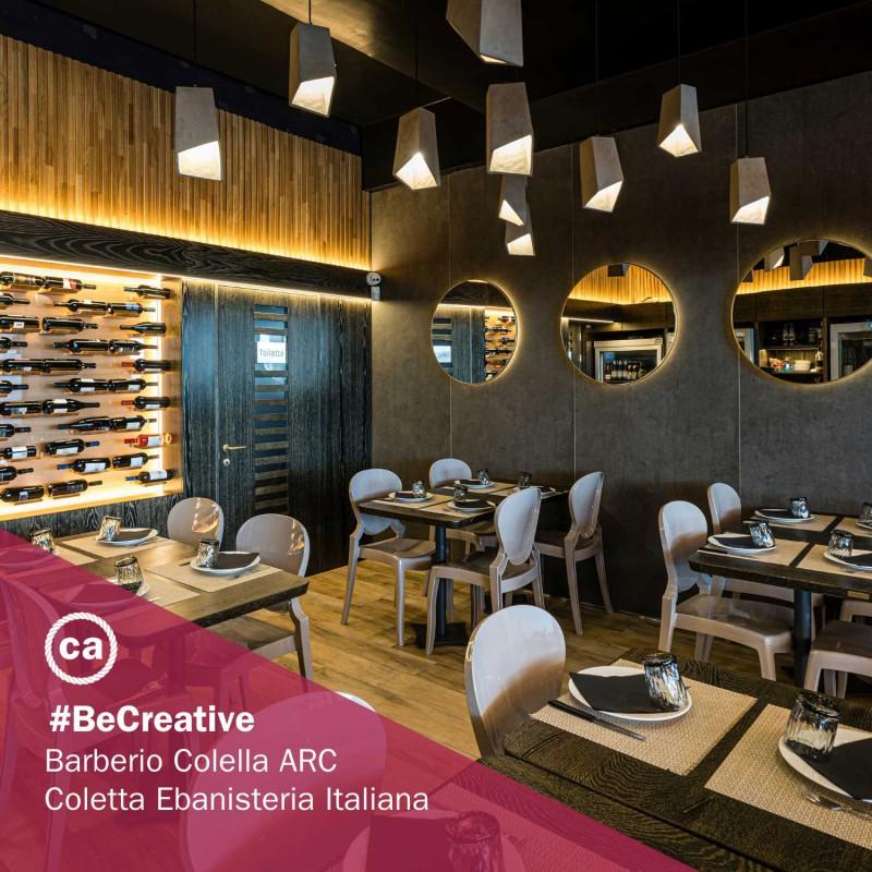 Pendelleuchte inklusive Textilkabel, trichterförmigem Lampenschirm aus Zement und Metall-Zubehör - Made in Italy
