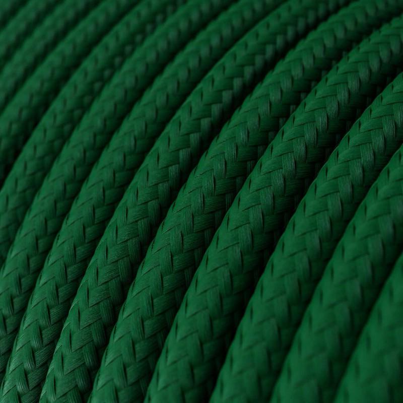 Pendelleuchte inklusive Textilkabel und farbigen Porzellan-Zubehör - Made in Italy