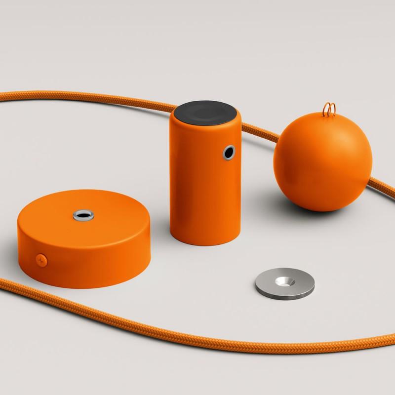 Magnetico®-Pendelleuchte mit Textilkabel und anpassbarer magnetischer Lampenfassung - Hergestellt in Italien