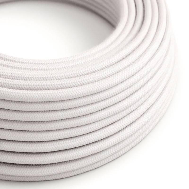 Rundes Textilkabel in Blassrosa aus Baumwolle, RC16