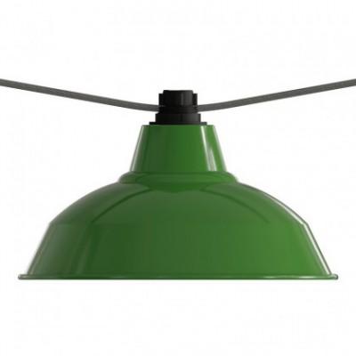 E27 thermoplastische Lampenfassung für Lampenschirme und Lumet Lichterketten in Schwarz mit Doppelklemmring