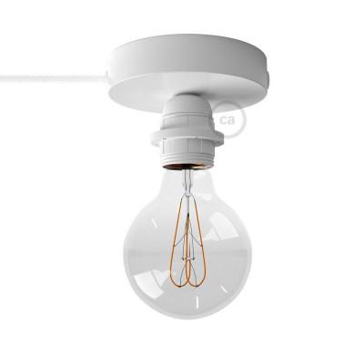 Spostaluce, die Metall-Lichtquelle mit E27 Gewindelampenfassung, Textilkabel und seitlichen Löchern