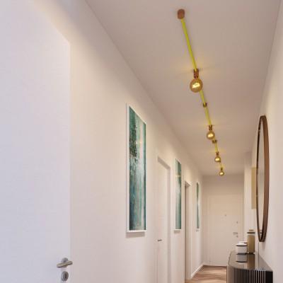 Symmetric-Kit des Filé-Systems - mit 5 m Kabel und 9 Zubehörteilen aus Holz für den Innenbereich